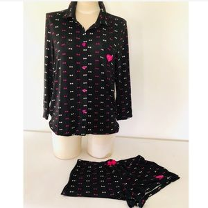 Betsey Johnson Short Pajamas Set S New NWT